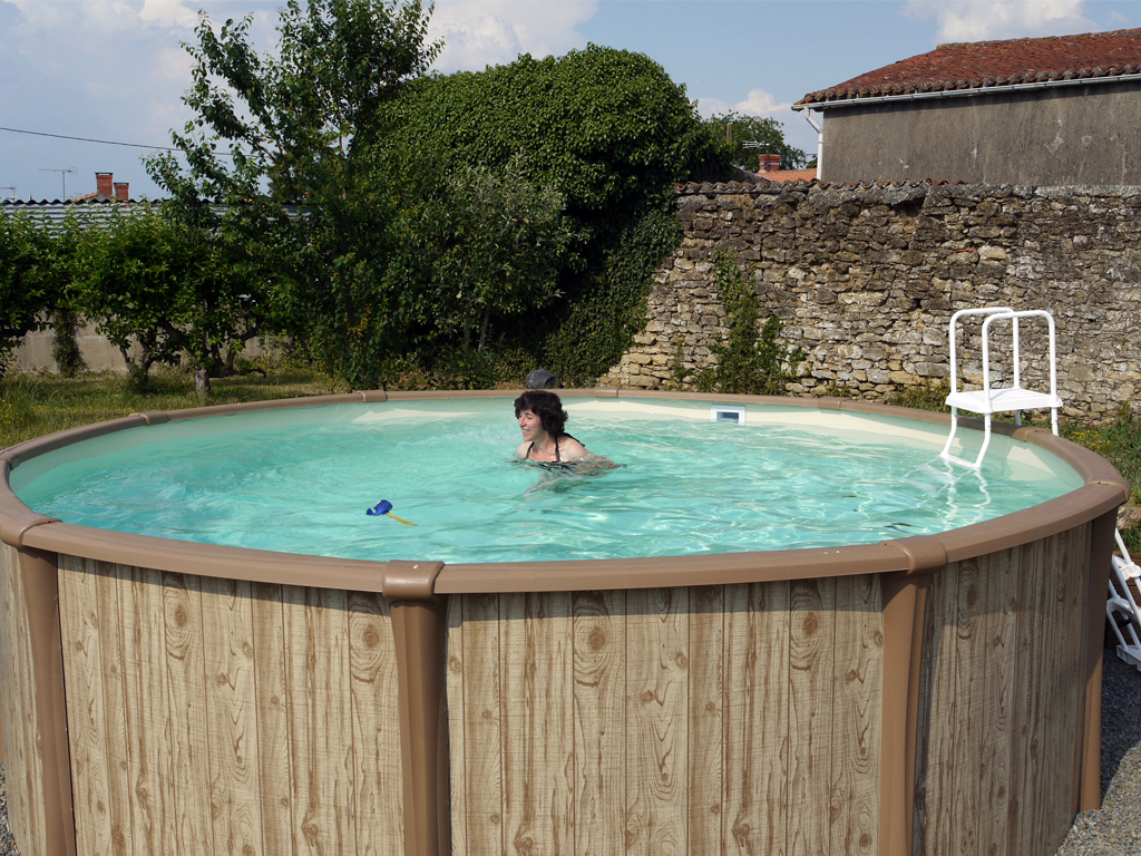 The Heated Pool at Gites les Chaffauds